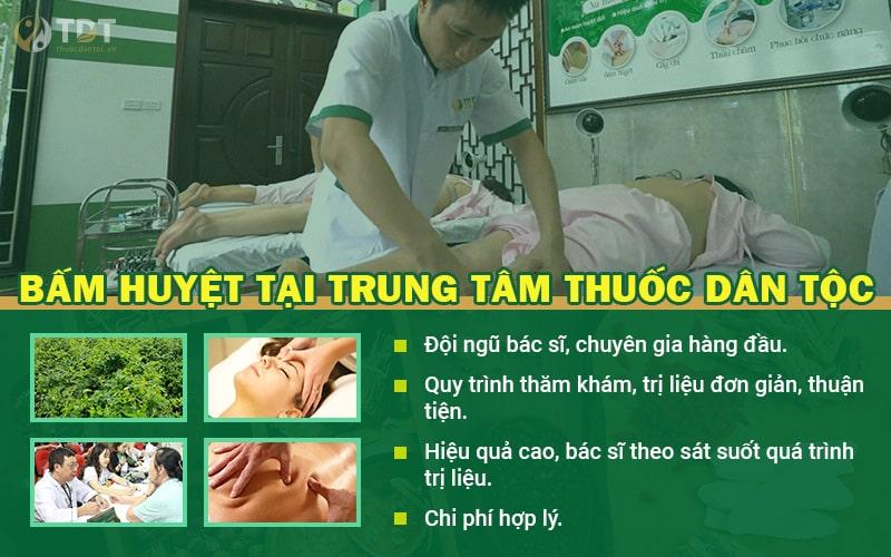 bấm huyệt chữa rối loạn tiền đình tại Trung tâm Thuốc dân tộc