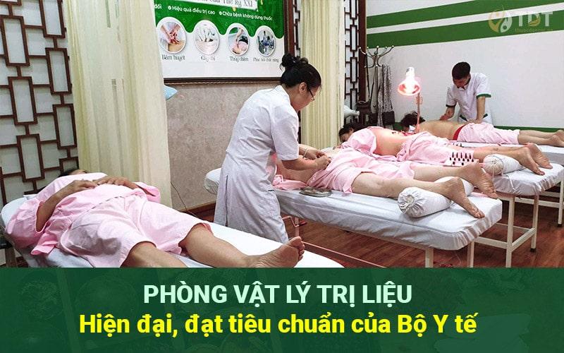 Hệ thống phòng bấm huyệt giảm cân tại Trung tâm Thuốc dân tộc