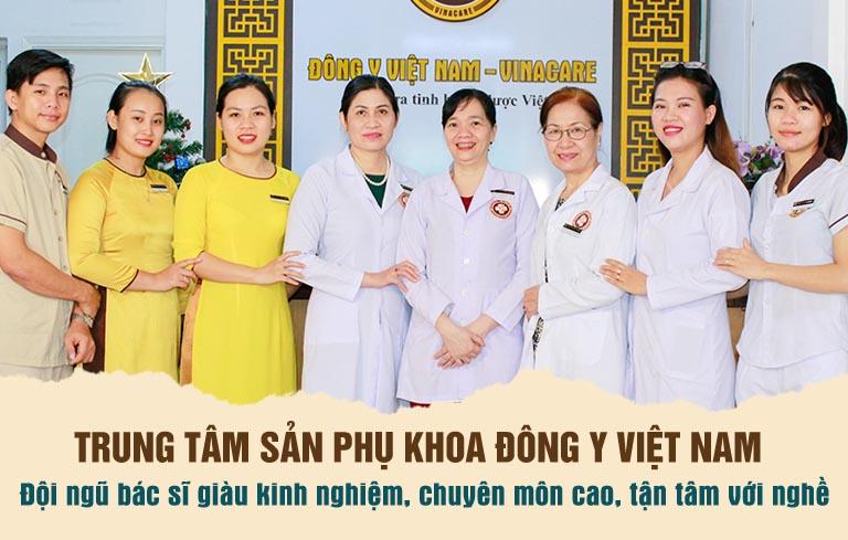 Đội ngũ y bác sĩ tại Trung tâm Sản phụ khoa Đông y Việt Nam