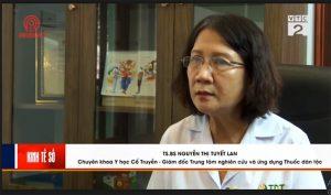 Bác sĩ Tuyết Lan trả lời phóng viên của VTC2