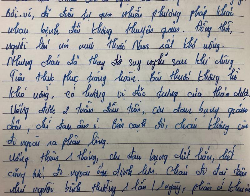 Bức thư tay bạn Hà Nhi gửi đến Thuốc dân tộc