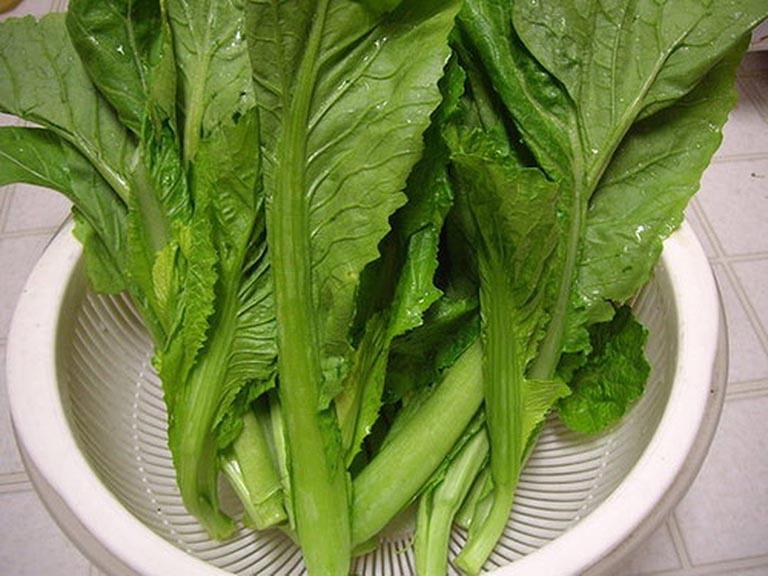 rau cải xanh chữa bệnh gout