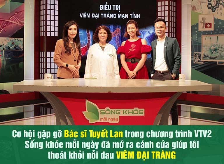 Bệnh nhân khỏi bệnh đại tràng nhờ biết đến bác sĩ Tuyết Lan qua chương trình truyền hình VTV2