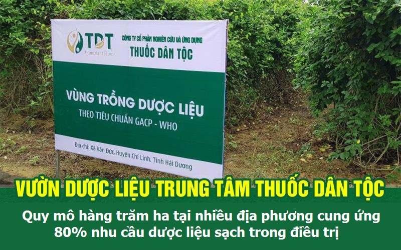 Trung tâm Thuốc dân tộc sở hữu hàng trăm ha dược liệu sạch