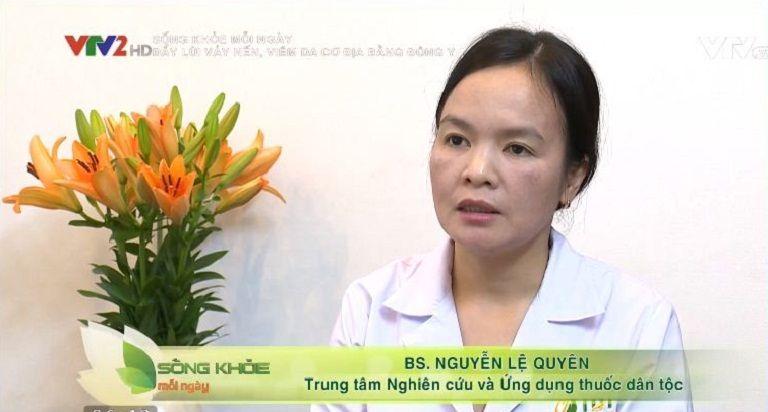 Bác sĩ Lệ Quyên tư vấn bệnh vảy nến, viêm da cơ địa trên VTV2
