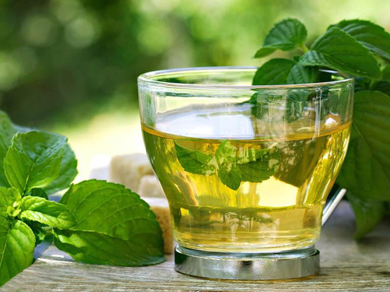 cách trị viêm amidan hốc mủ tại nhà bằng trà bạc hà