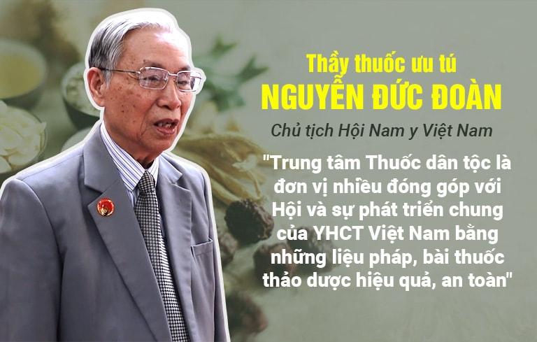Thầy thuốc ưu tú Nguyễn Đức Đoàn đánh giá cao công tác khám chữa bệnh tại Trung tâm Thuốc dân tộc
