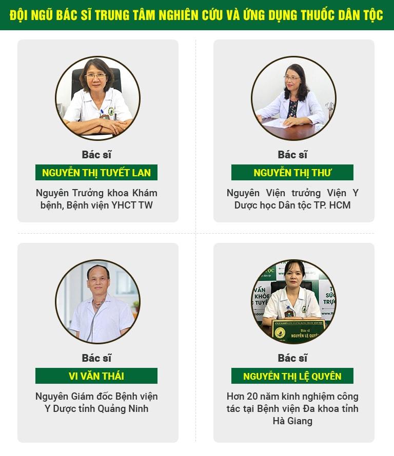 Đội ngũ bác sĩ hàng đầu về tiêu hóa của Trung tâm Thuốc dân tộc