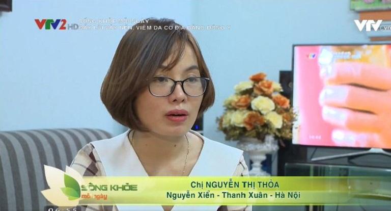 Chị Nguyễn Thị Thỏa chia sẻ trên VTV2