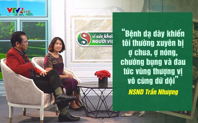 Nghệ sĩ Trần Nhượng chia sẻ về bệnh dạ dày của mình trong chương trình Vì Sức Khỏe Người Việt - VTV2