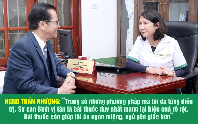 Sắc mặt và tình trạng bệnh của nghệ sĩ Trần Nhượng đã tốt hơn rất nhiều ở lần tái khám