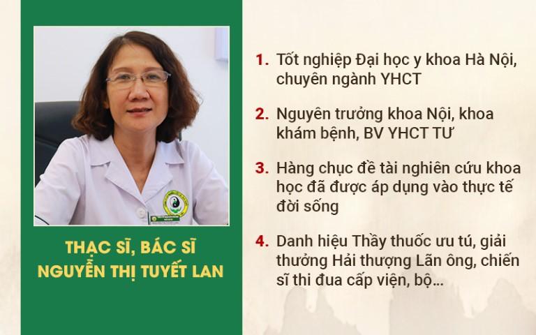 Chân dung Ths. Bs Nguyễn Thị Tuyết Lan - Chuyên gia chữa bệnh trĩ tại Thuốc dân tộc