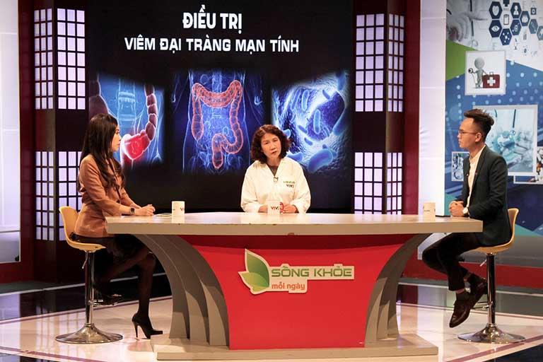 Bác sĩ Tuyết Lan chia sẻ trong chương trình Sống Khỏe Mỗi Ngày chủ đề điều trị viêm đại tràng mãn tính