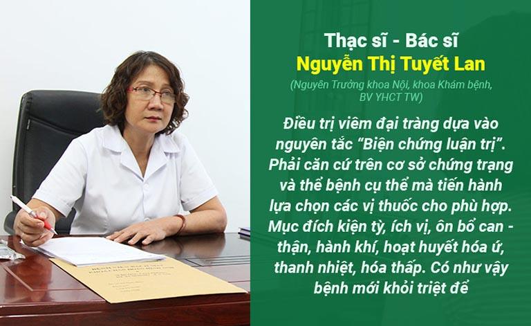 Thạc sĩ - Bác sĩ Tuyết Lan chia sẻ nguyên tắc điều trị bệnh viêm đại tràng mãn tính