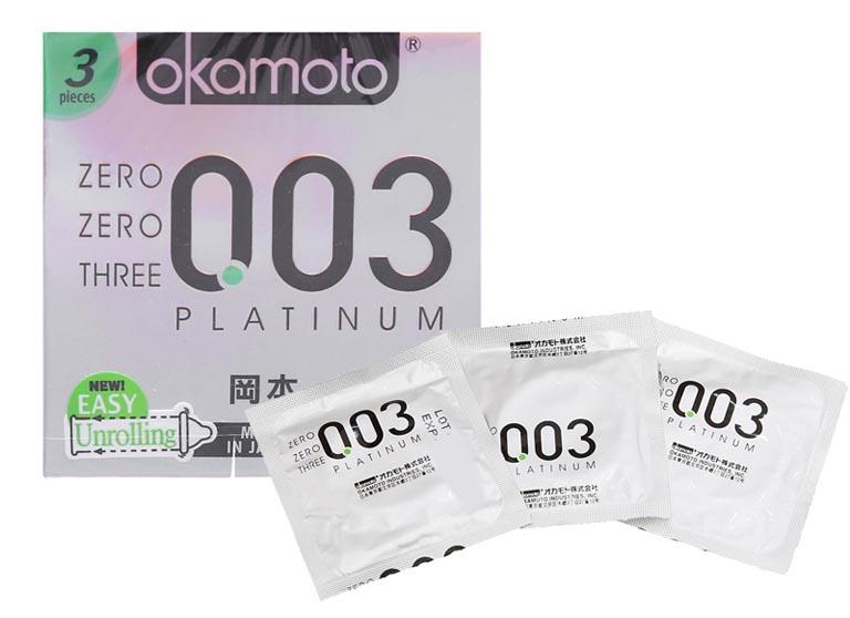 Bao cao su giá rẻ Okamoto 0.03 Platinum