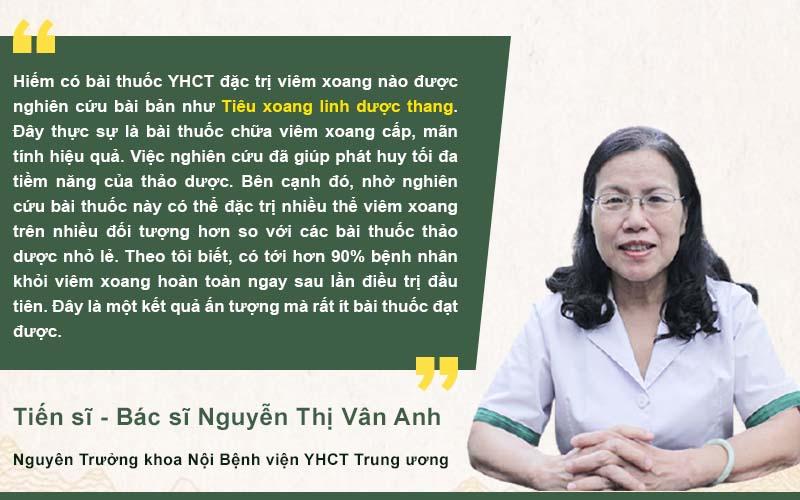Bác sĩ Vân Anh đánh giá bài thuốc Tiêu xoang Linh Dược Thang