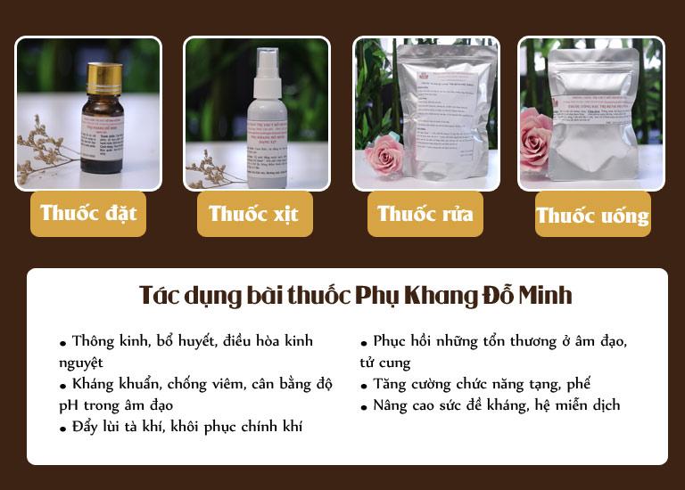 Công dụng của từng loại thuốc Phụ Khang Đỗ Minh