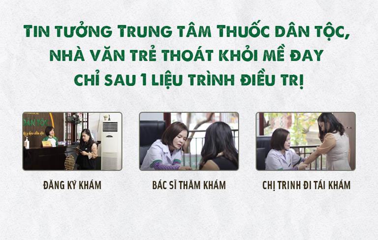 Tin tưởng vào Trung tâm Thuốc dân tộc chị Trinh đã thoát khỏi mề đay