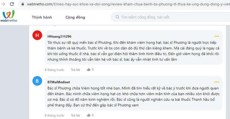 Bác sĩ Lê Phương được đánh giá cao về chuyên môn