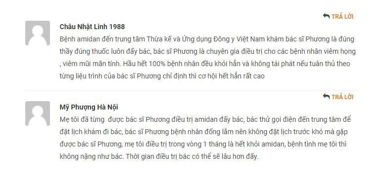 Bác sĩ Lê Phương được đánh giá cao trong điều trị viêm họng, viêm amidan