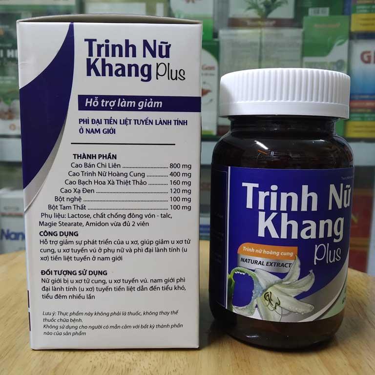 thuốc uống chữa u xơ tử cung Trinh Nữ Khang Plus