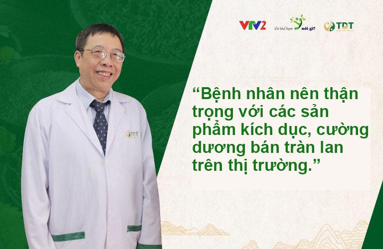 Bác sĩ Lê Hữu Tuấn đưa ra lời khuyên cho các quý ông