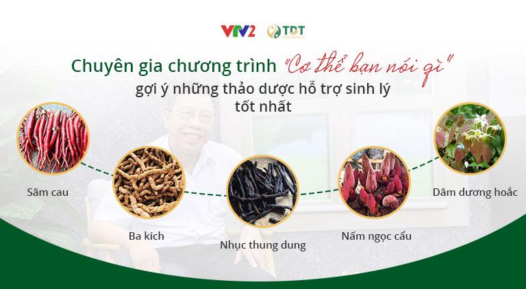Bác sĩ Lê Hữu Tuấn giới thiệu những thảo dược tốt cho sinh lý nam