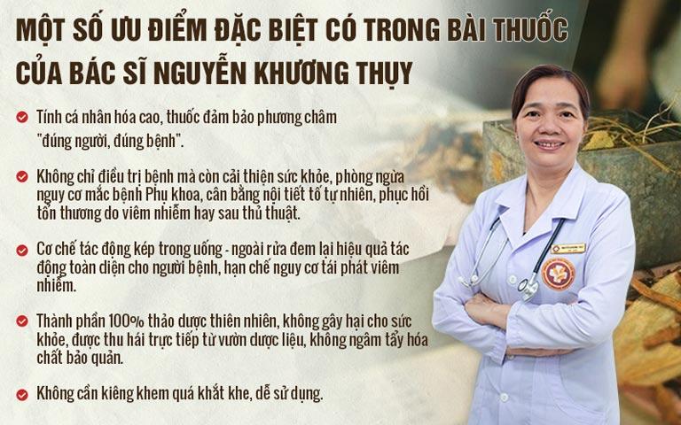 Những ưu điểm trong bài thuốc chữa bệnh phụ khoa của bác sĩ Nguyễn Khương Thụy