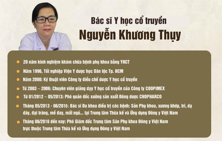 Tiểu sử bác sĩ Nguyễn Khương Thụy