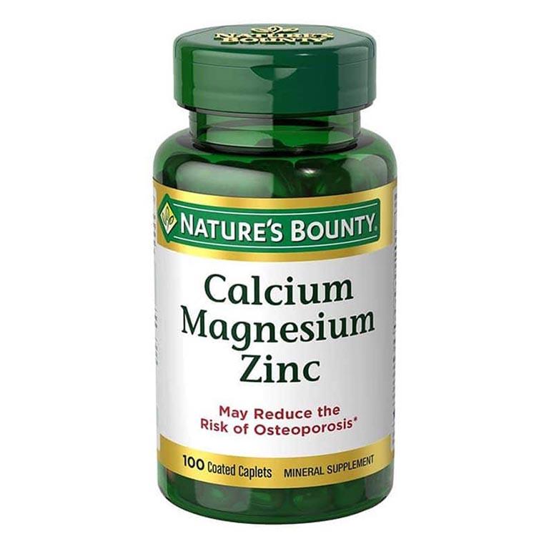 thuốc bổ sung canxi cho người bị thoái hóa khớp Nature's Bounty Calcium Magnesium Zinc
