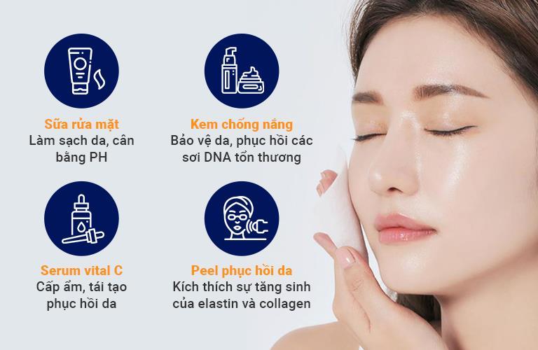 Bộ kit hỗ trợ bảo vệ da từ bên ngoài