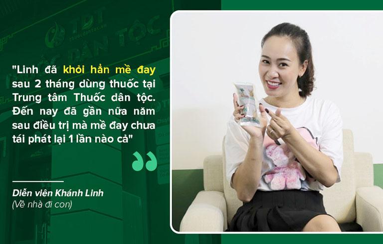 Sau 2 tháng sử dụng thuốc Tiêu ban Giải độc thang diễn viên Khánh Linh đã khỏi hẳn mề đay