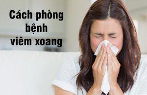 cách phòng tránh viêm xoang