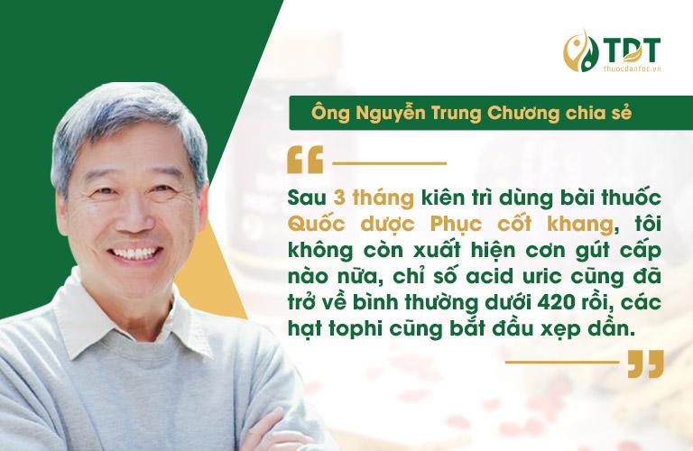 Bệnh nhân Nguyễn Trung Chương (65 tuổi, Hà Nội)