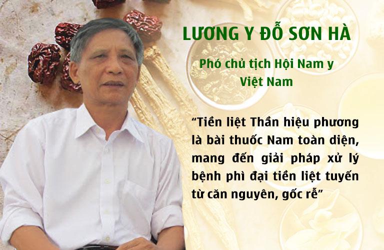 Phó chủ tịch Hội Nam y đánh giá về Tiền liệt Thần hiệu phương