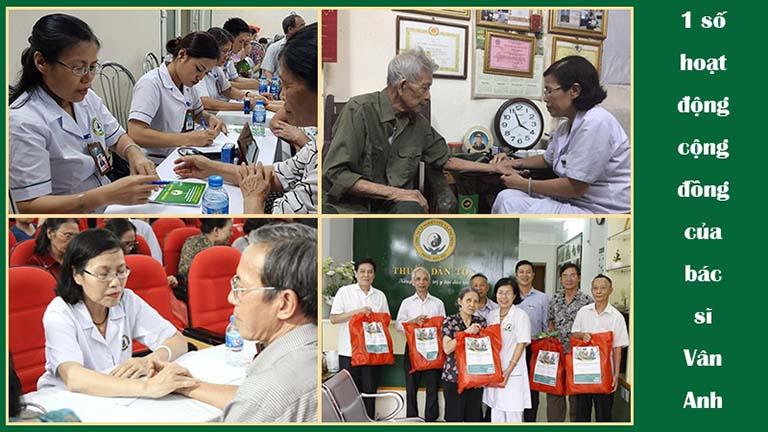 Các hoạt động thiện nguyện của BS Nguyễn Thị Vân Anh