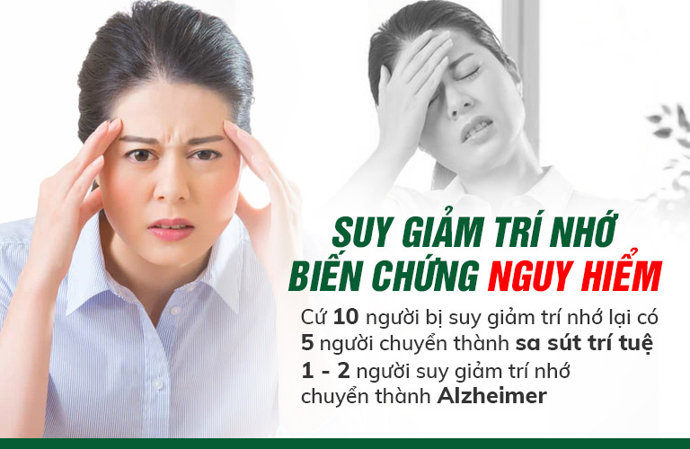 Suy giảm trí nhớ biến chứng nguy hiểm bạn chớ nên chủ quan
