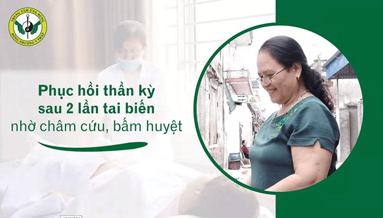 Nhờ vật lý trị liệu tai Trung tâm Thuốc dân tộc, cô Miên đã lấy lại sức khỏe, niềm vui trong cuộc sống