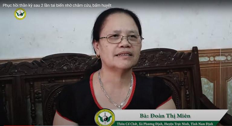 Cô Đoàn Thị Miên chia sẻ về hành trình chữa bệnh bằng Vật lý trị liệu tại Thuốc dân tộc