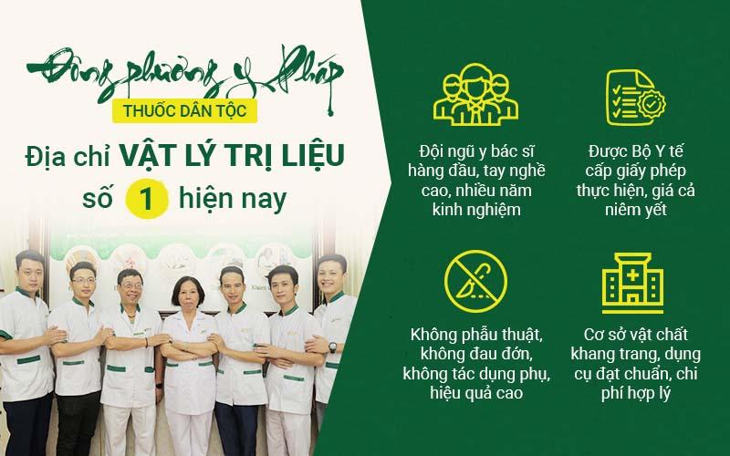 Những ưu thế chữa bệnh bằng Vật lý trị liệu tại Trung tâm Thuốc dân tộc