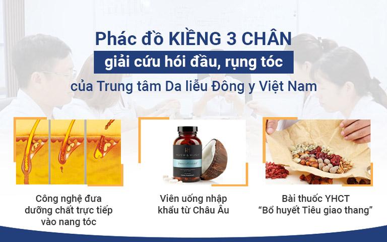 Phác đồ điều trị rụng tóc toàn diện của Trung tâm Da liễu Đông y Việt Nam