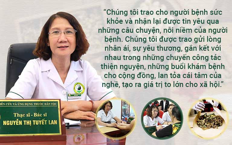 Ths.Bs Nguyễn Thị Tuyết Lan luôn lấy sức khỏe,hạnh phúc của người dân làm tôn chỉ chữa bệnh của mình