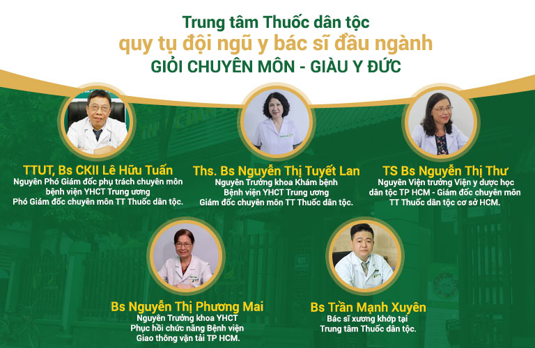 Trung tâm quy tụ đội ngũ y bác sĩ giỏi chuyên môn, giàu y đức