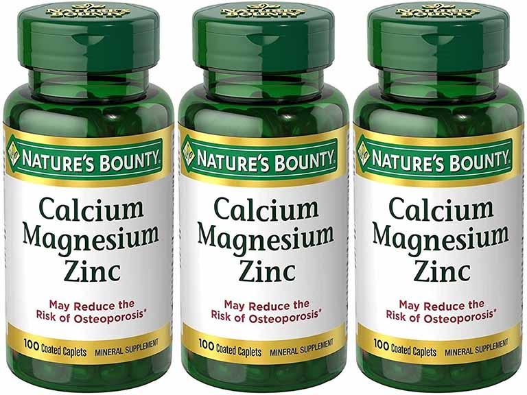 Thuốc trị đau lưng của Mỹ Nature's Bounty Calcium Magnesium Zinc