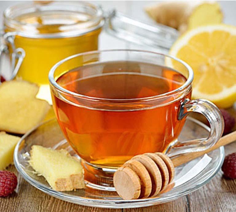 trà gừng trị viêm đại tràng