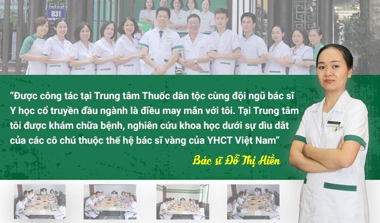 Bác sĩ Hiền chia sẻ về quá trình công tác tại Trung tâm Thuốc dân tộc