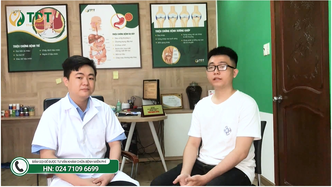 Huy được bác sĩ Mạnh Xuyên trực tiếp điều trị tại Trung tâm Thuốc dân tộc
