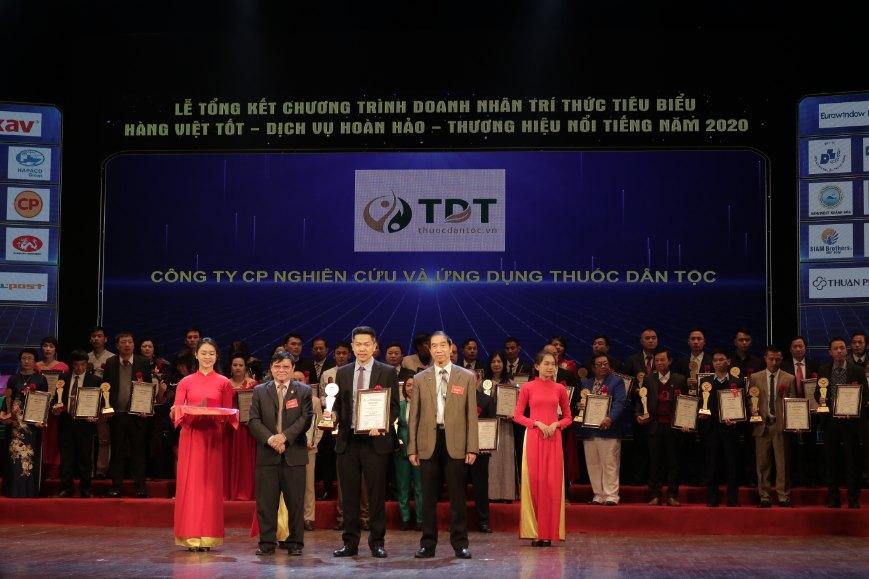 TT Thuốc dân tộc nhận giải thưởng Hàng Việt tốt - Dịch vụ hoàn hảo - Thương hiệu nổi tiếng 2020
