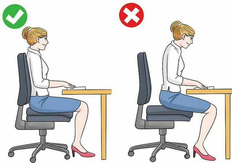 tư thế ngồi đúng cho dân văn phòng