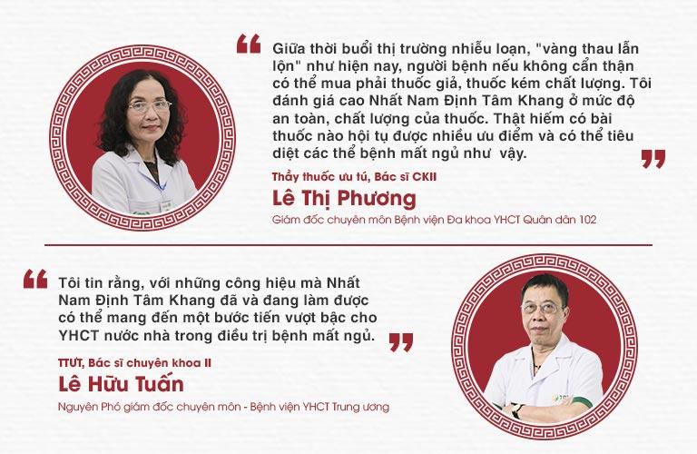 Chuyên gia đánh giá hiệu quả của bài thuốc Nhất Nam Định Tâm Khang